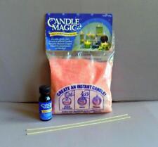 Granulated Candle Magic Wax Grapefruit Tweed + Grapefruit Fragrance + Wicks Kit
