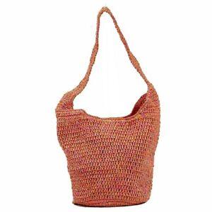 Cappelli Straworld Women's Hand Made Hobo Pink Multi Carryall Handbag