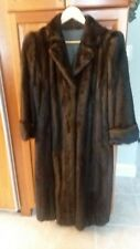 Designer SAGA Mink Luxury Rich Dark Brown Real Mink Fur Coat