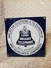 "Vintage AT&T Bell System Telephone Porcelain 8"" X 8"" Sign Ande Rooney"