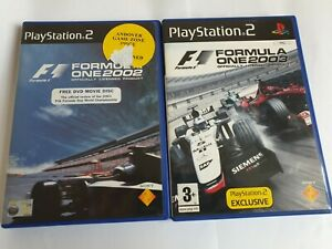 F1 Formula One 2002 & 2003 Sony PlayStation 2 PS2 Games Complete FREE UK POSTAGE