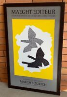 Vintage 70s Maeght Editeur Exhibition Lithograph Print Modern Art Georges Braque