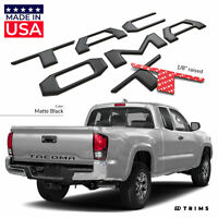 Matte Black 3D Domed Raised Letters Inserts for Toyota Tacoma 2016-2020 Tailgate