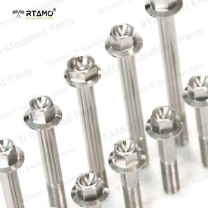 RTAMO | M6 M8 M10 Various Length Solid Titanium Alloy Gr5 Hexagon Flange Bolts