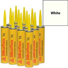 Sikaflex 1A Polyurethane Sealant, 10.1 fl oz, 12 Pack, WHITE