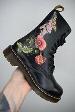 Dr MARTENS 1490 Wild Botanics Black Floral High 10 eye Boots UK 4 EU 37 US6 RARE