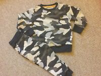 Next baby Boys camouflage camo tracksuit set long sleeve jumper joggers 1.5-2y