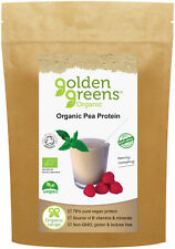 Golden Greens 100% Pure Organic Pea Protein Powder, 250g, 78% Protein