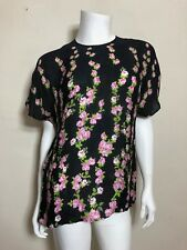Gucci Climbing Roses Top in Black Size 40