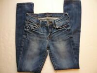 Lucky Brand - Brooke Straight Women's Size 00/24A Jeans Medium Wash Whiskers-O27