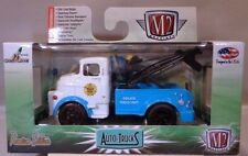 BLUE 1957 DODGE COE POLICE TOW TRUCK M2 MACHINES 1:64 SCALE DIECAST METAL MODEL