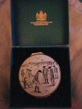 Bilston & Battersea Halcyon Days Enamel Box Royal Ancient Game of Golf.