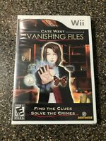 The Vanishing Files Cate West (Nintendo Wii, 2009) Brand New Sealed - Free Ship