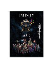 Marvel Infinity War Pictures Thanos Gauntlet Stones Superhero Villains Prints A4
