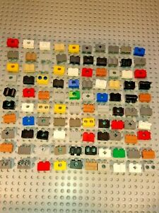 LEGO big selection of special 1x2 bricks, holes,cross,clip see pictures for type