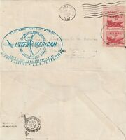 US 1947 ANNIVERSARY OF INTER AMERICAN AIRMAIL TO ARGENTINA FLOWN COVER