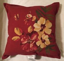"New OUTDOOR Pillow by Lowe's 24"" x 24"" Square FLORAL RED"