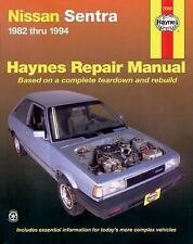 Haynes Datsun, Nissan Sentra, 1982-1994 Tune Up Repair Teardown Rebuild Manual