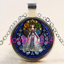 Legend of Zelda Stained Cabochon silver Glass Chain Pendant Necklace #2690