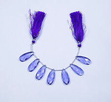 Purple Quartz-Handmade Faceted Pear Shape Briolette Beads 10x25 mm