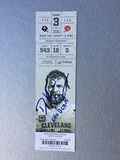 """Deshone Kizer Signed NFL debut ticket stub inscribed """"NFL DEBUT"""""""