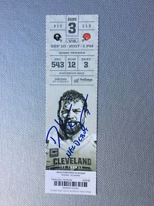"Deshone Kizer Signed NFL debut ticket stub inscribed ""NFL DEBUT"""
