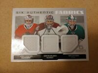 2014-15 SP GAME USED HOCKEY SIX AUTHENTIC FABRICS CENTRAL DIVISION GOALIES
