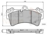 Audi A4 B7 2.0 TDI 19.3mm Thick Genuine Allied Nippon Front Brake Pads Set