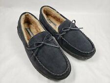 Eddie Bauer Men's Woodland Suede Slippers Indoor/Outdoor Shoes Gray Sz 8-9