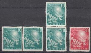BRD 1949 MiNr. 4x 111 + 1x 112 postfrisch - Eröffnung des ersten Bundestages
