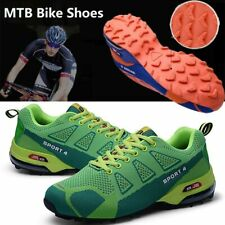 Men Cycle Shoes Men Non-Locking Mtb Sneakers Breathable Mountain Road Bike Shoes