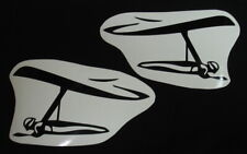 2 * HANG GLIDING PILOT FLYING HG DECALS STICKERS EMBLEM CAR AUTOMOBILE SIDE WING
