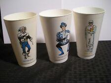 1973 Captain Cold / Boomarang / Heat Wave 7-11 Slurpee Cup VG+ 4.5 LOT of 3