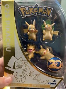 New In Box 2016 Pokemon Tomy 20th Anniversary 025 Pikachu Shiny 4 Figure Set