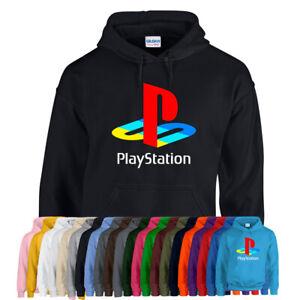 PLAYSTATION HOODIE Hoody Gamer Gaming logo cult retro Adult kids Unisex NEW