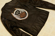 Harley Davidson Womens 105th Anniversary Black Leather Jacket XL 97105-08VW RARE
