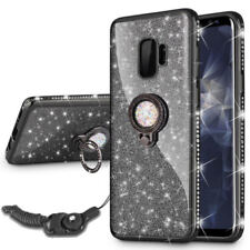 For Samsung Galaxy Note9 S9 8 Bling Glitter Crystal Ring Diamond Case Soft Cover