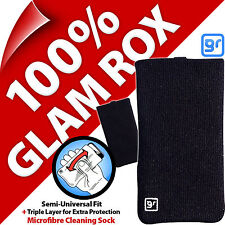 Glam Rox Triple Layer Microfibre Cleaning Mobile Phone Mp3 Sock Case Pouch Cover Blackberry 9360 Pearl 8220 7100 7130 8800