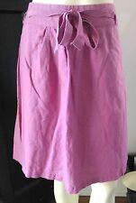 DOWNEAST Sz S  Mauve Linen/Cotton Skirt-Fully Lined- Side Zip