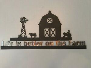 Life on the Farm-- Metal decor