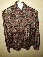 Vintage NWT Womens Notations floral blouse shirt size 10