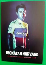 CYCLISME carte wielerkaart JHONATAN NARVAEZ (Team QUICK STEP FLOORS 2018)