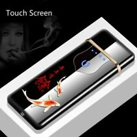 Charging Lighter Touch Induction Thin Rechargeable Windproof Metal Mirror