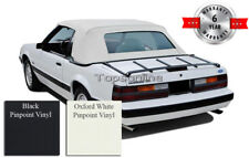Ford Mustang Convertible Soft Top with Glass Window & Inst. Video Vinyl 83-90