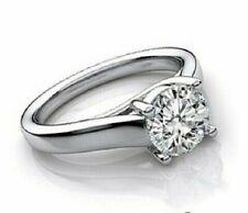 Wedding R 00006000 ing 14K White Gold Over 1.25 Ct Round Cut Diamond Bridal Engagement