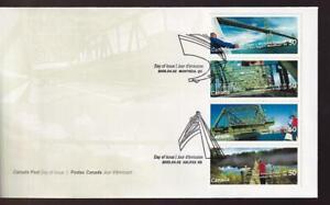 Canada FDC 2005 Bridges, se-tenant strip of 4, sc#2103a