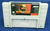 Mortal Kombat Super Nintendo SNES AUTHENTIC TESTED AND WORKiNG FREE SHIPPING