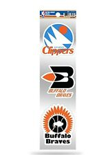 Los Angeles Clippers Triple Retro Throwback Decals Sticker Sheet Basketball