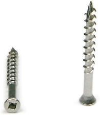 "Square Drive Deck Screws Trim Head 305 Stainless Steel  - #7 x 1-5/8"" Qty 100"