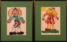 Original Watercolors: Mischievous Girls